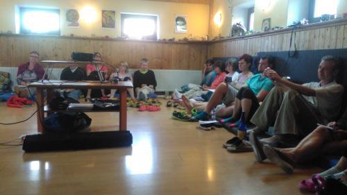 Meditační centrum U Kamenné ryby - přednášková místnost